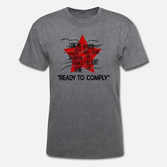 Winter T-Shirts - The winter soldier activation code Ready to Comply - Men's T-Shirt mineral charcoal gray