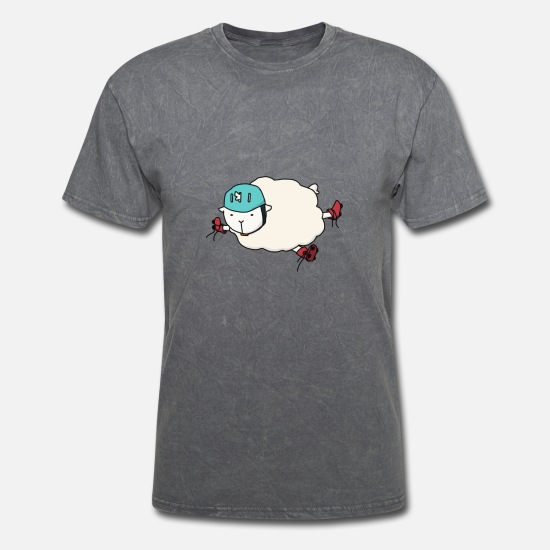 Skater T-Shirts - Sheep Skate - Men's T-Shirt mineral charcoal gray