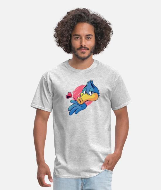Love T-Shirts - Kissing Bird - Men's T-Shirt heather gray