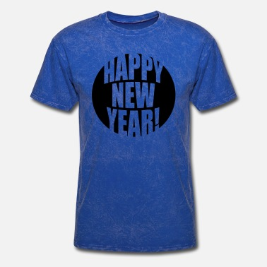 End Of World red bar logo happy new year happy new year rocket - Men's T-Shirt