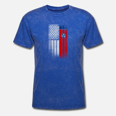 State Of Tennessee Flag USA Vintage Tennessee State Flag - Men's T-Shirt