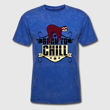 chill relax calm cozy sloth lazy slow recover holi - Men's T-Shirt