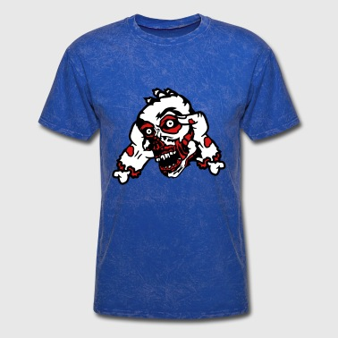 head hold 2 hands hand arm severed zombie dead die - Men's T-Shirt