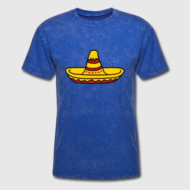 Hot Dog sombrero party hat celebrate south america mexico - Men's T-Shirt