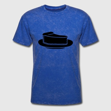 black break cake cheesecake cutlets plate deliciou - Men's T-Shirt