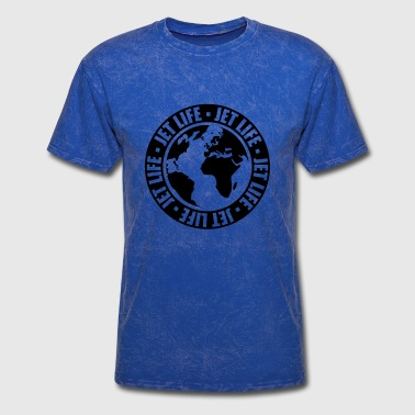 world travel circle pilot earth travel jetset stam - Men's T-Shirt