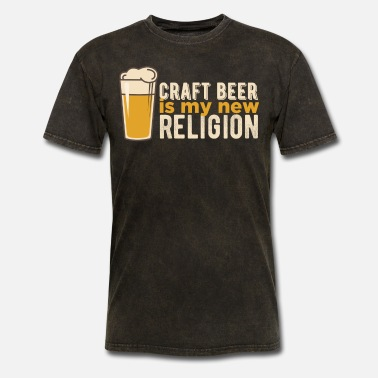 Beer Stein Beer steins - Craft beer is my new religion - Men's T-Shirt