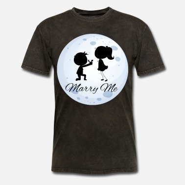 Married Couple Romantic couple Marry Me - Men's T-Shirt