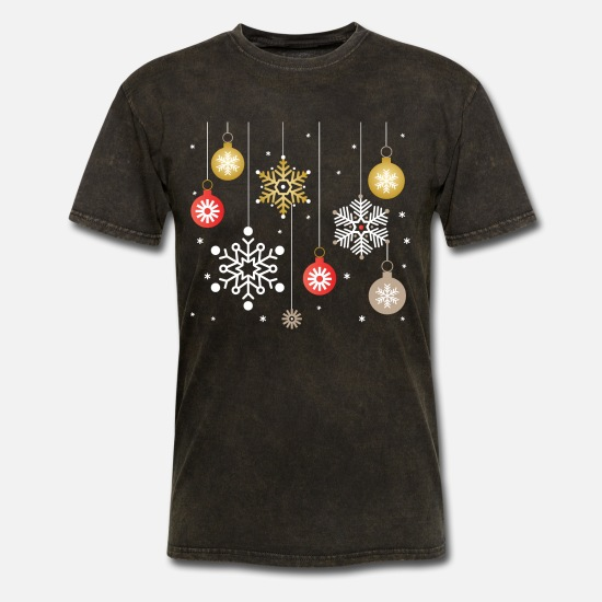 Snowflake T-Shirts - Christmas Snowflakes - Men's T-Shirt mineral black