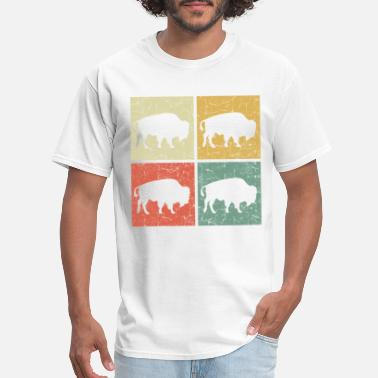 retro bison - Men's T-Shirt