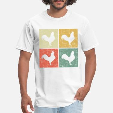 retro rooster - Men's T-Shirt