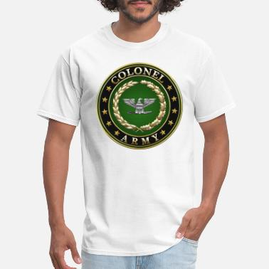 Military Insignia Army Colonel (COL) Rank Insignia 3D - Men's T-Shirt