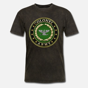 Insignia Army Colonel (COL) Rank Insignia 3D - Men's T-Shirt