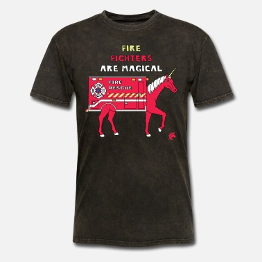 Fighter Fire Fighters Are Magical Unicorn - Men's T-Shirt