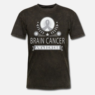 Awareness Ribbon Brain Cancer Awareness Ribbon Support - Men's T-Shirt