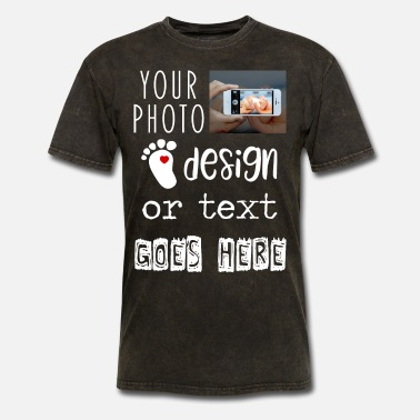 Upload Personalize Your Own Custom Photo or Text Gift - Men's T-Shirt
