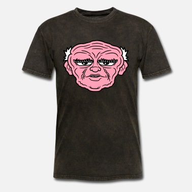 Eyebrows grandpa grandpa dad comic age man face cartoon des - Men's T-Shirt