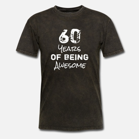 Birthday T-Shirts - 60th Birthday Awesome - Men's T-Shirt mineral black