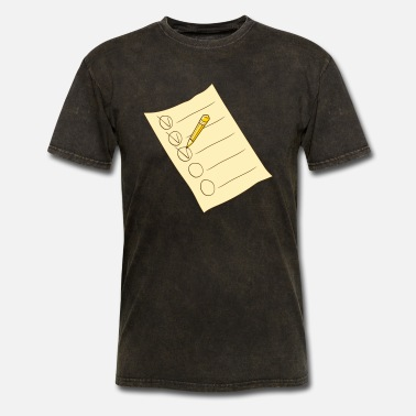 Check Mark Tally list list - Men's T-Shirt