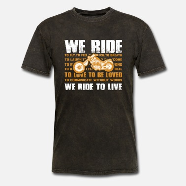 Ross We ride to live png - Men's T-Shirt