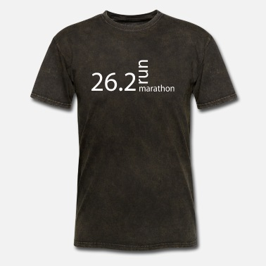 26 2 MARATHON T SHIRT 26 2 MILES running training runne - Men's T-Shirt