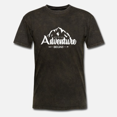 Adventure And so the adventure begins - Men's T-Shirt