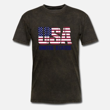 United States USA - United States Flag - Men's T-Shirt