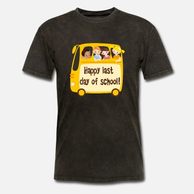 Happy Last Day of School Shirt Next Level Gift Funny Short-Sleeve Mens T-Shirt