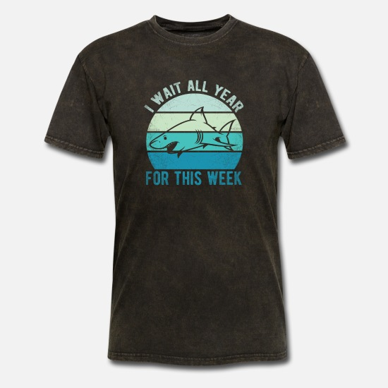 Wait T-Shirts - I Wait All Year For This Week T-Shirt - Men's T-Shirt mineral black