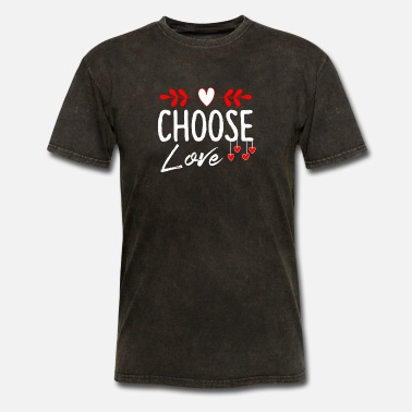 Spread Choose Love Choose Kind Positivity Valentines Day - Men's T-Shirt