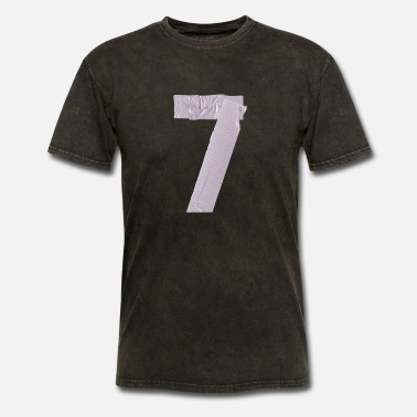 Number duct tape number 7 - Men's T-Shirt