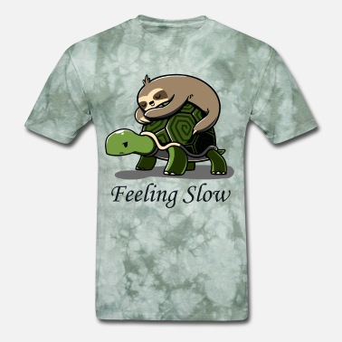 Ride Slow Feeling Slow Shirt Funny Sloth Riding Turtle lazy - Men's T-Shirt