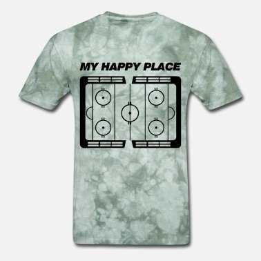 Place My happy place hockey - Men's T-Shirt