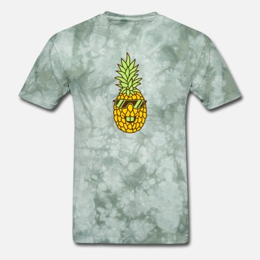 Funny Bro sunglasses cool funky style face funny pineapple d - Men's T-Shirt