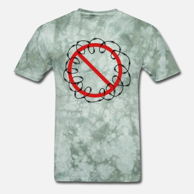 Tattoo Pattern zone shield barrier barbed security military base - Men's T-Shirt