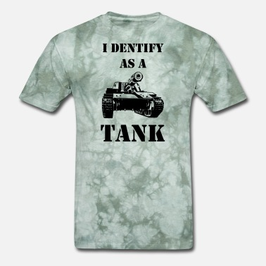Military Helicopters I identify as a tank - Men's T-Shirt