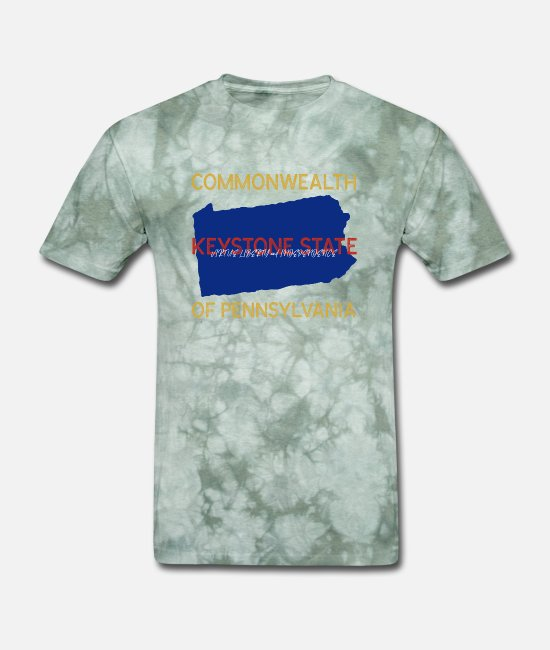 Pa T-Shirts - Commonwealth of Pennsylvania - Men's T-Shirt military green tie dye