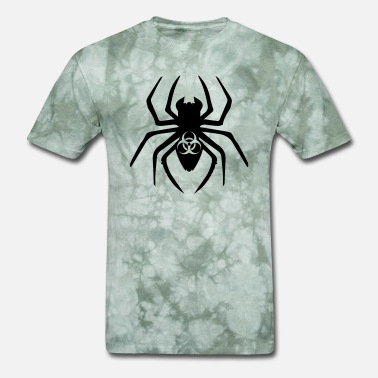 Toxic Sign toxic biohazard biological symbol sign virus spide - Men's T-Shirt