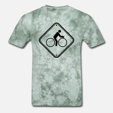 Bike Art caution caution caution note zone danger bike path - Men's T-Shirt