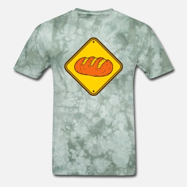 Toast zone sign danger caution caution note loaf bread s - Men's T-Shirt
