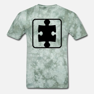 Puzzle button puzzle part puzzle piece puzzle piece puzzl - Men's T-Shirt