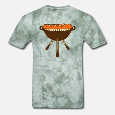Utensil barbecue grill bbq baguette bread bun french franc - Men's T-Shirt