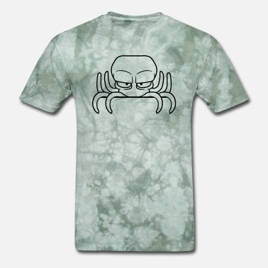 Evil Cartoon hiding shield edge writing name text evil octopus - Men's T-Shirt