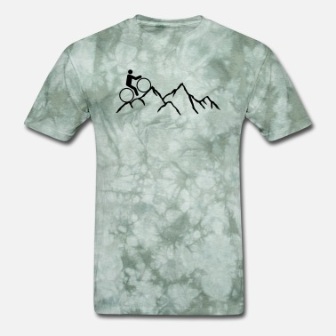 Mountain Biking Art mountain hike mountains mountain bike hill bike dr - Men's T-Shirt