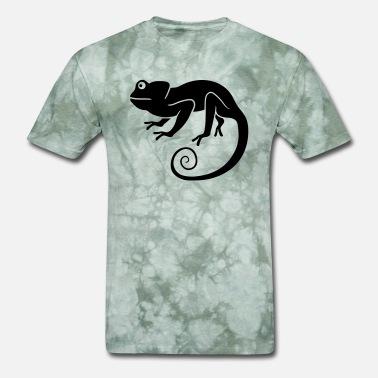 40352600e Iguana Chameleon silhouette shadow black chameleon iguana lizard re -  Men's T. Men's T-Shirt