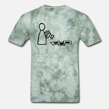 Outline Graphics person - graphic - photographer - outlines - Men's T-Shirt