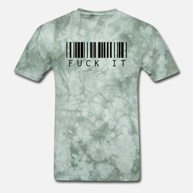 Fuck Text Barcode Text Fuck it - Men's T-Shirt