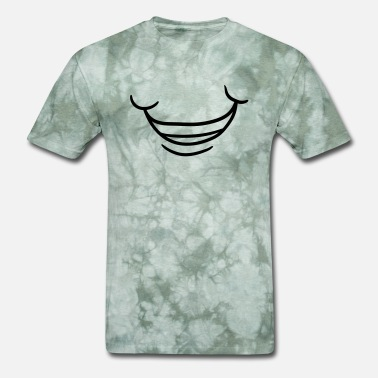 Teeth mouth grin teeth smile insane crazy crazy clipart - Men's T-Shirt