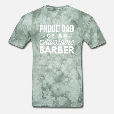 Barber Dad Proud Dad of an awesome Barber - Men's T-Shirt