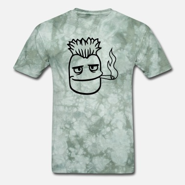 Smoking Cigarette weed head stinky mouth kuchen hemp stoned drugs sm - Men's T-Shirt
